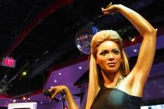 A waxwork of Beyoncé Knowles. LAS VEGAS - OCT 28 : A waxwork of Beyoncé Knowles  at The Madame Tussauds museum in Las Vegas on October 28 2014 Royalty Free Stock Photos