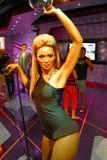 A waxwork of Beyoncé Knowles. LAS VEGAS - OCT 28 : A waxwork of Beyoncé Knowles  at The Madame Tussauds museum in Las Vegas on October 28 2014 Royalty Free Stock Image