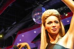 A waxwork of Beyoncé Knowles. LAS VEGAS - OCT 28 : A waxwork of Beyoncé Knowles  at The Madame Tussauds museum in Las Vegas on October 28 2014 Stock Images