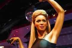 A waxwork of Beyoncé Knowles. LAS VEGAS - OCT 28 : A waxwork of Beyoncé Knowles  at The Madame Tussauds museum in Las Vegas on October 28 2014 Stock Photo