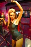 A waxwork of Beyoncé Knowles. LAS VEGAS - OCT 28 : A waxwork of Beyoncé Knowles  at The Madame Tussauds museum in Las Vegas on October 28 2014 Royalty Free Stock Images