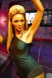 A waxwork of Beyoncé Knowles. LAS VEGAS - OCT 28 : A waxwork of Beyoncé Knowles  at The Madame Tussauds museum in Las Vegas on October 28 2014 Stock Photography