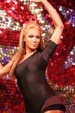 Waxwork of Beyoncé Knowles. LAS VEGAS - OCT 28 : A waxwork of Beyoncé Knowles  at The Madame Tussauds museum in Las Vegas on October 28 2014 Royalty Free Stock Image