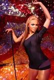 Waxwork of Beyoncé Knowles. LAS VEGAS - OCT 28 : A waxwork of Beyoncé Knowles  at The Madame Tussauds museum in Las Vegas on October 28 2014 Stock Images