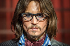 Waxwork of Johnny Depp on display at Madame Tussauds Stock Images