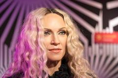 Waxwork of Madonna on display Royalty Free Stock Photo
