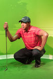 Waxwork Of Tiger Wood On Display Royalty Free Stock Image