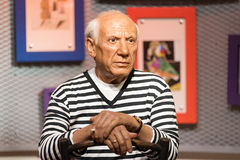 A waxwork of Pablo Picasso on display at Madame Tussauds on January 29, 2016 in Bangkok, Thailand. Stock Photos