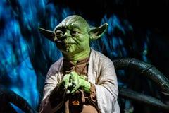 Waxwork statues of Master Yoda from Star Wars, Madame Tussauds waxwork museum