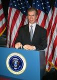 Waxwork van President George W royalty-vrije stock afbeeldingen