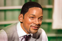 Waxwork of Will Smith on display at Madame Tussauds Royalty Free Stock Photography