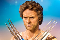 Waxwork of Wolverine on display at Madame Tussauds Royalty Free Stock Photo
