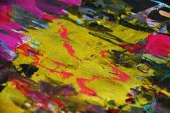 Waxy золотые контрасты, предпосылка waxy краски творческая стоковые фотографии rf