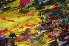 Waxy золотые темные контрасты, предпосылка waxy краски творческая стоковое изображение rf