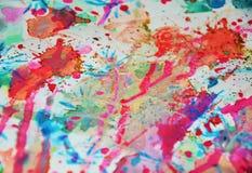 Waxy предпосылка акварели в фиолетовых, голубых, серых цветах Стоковая Фотография RF