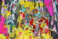 Waxy фиолетовые голубые золотые темные контрасты, предпосылка waxy краски творческая стоковое фото