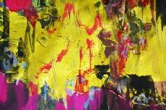 Waxy фиолетовые золотые темные контрасты, предпосылка waxy краски творческая стоковые изображения