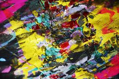 Waxy фиолетовые черные розовые голубые золотые темные контрасты, предпосылка waxy краски творческая стоковые фото