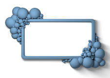 Waxy Bubbly frame Stock Photo