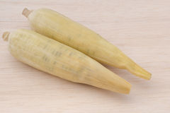 Waxy corn,waxy maize on wood background Royalty Free Stock Images