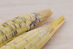 Waxy corn,waxy maize on wood background Stock Photos