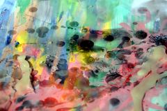 Waxy, watercolor and paint. Nr 5. Dark spots Royalty Free Stock Images