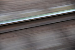 On the way. Railway seen from a fast moving train - motion blurred Royalty Free Stock Images