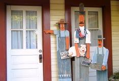 That A Way. Garden art sculpture decorates a gift shop in Gruene, Texas stock images