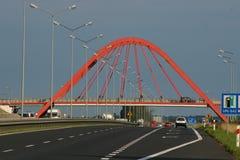Way. New way (speedway with bridge Stock Photo