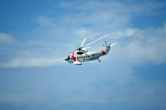 On the way. Rescue helicopter Stock Photography