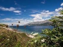 The way around the coast on Hvar island, Croatia royalty free stock images