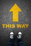 This way and asphalt sign Royalty Free Stock Image