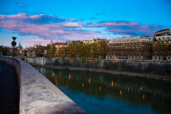 Way back form vatican at dusk Royalty Free Stock Images