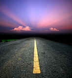 Way background. Road destination sunset cloud sky beam royalty free stock photography
