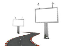 Way with billboards Stock Photos