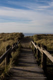 This Way. Boardwalk entrance to Oregon coast beach Stock Images