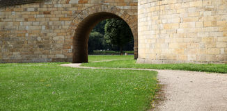 Way and brick arch. In Castle Stock Photos