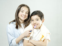 This is the way we brush our teeth. Stock Images