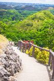 Way of Chocolate Hills in Bohol Royalty Free Stock Image