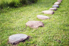 Way from  cobble-stones Stock Image