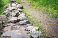 Way from  cobble-stones Royalty Free Stock Photos
