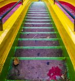 Colorful stairway royalty free stock images
