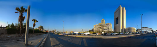 Way at Commercial center of Jeddah. At day Royalty Free Stock Images