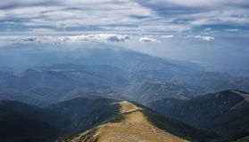 The Way. A conceptual abordation of a landscape from Parang Mountains, Romania stock image