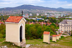 Way Of The Cross - Calvary. Way Of The Cross at Calvary Hill in Nitra, Slovakia Royalty Free Stock Photos