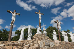 Way of the Cross and Calvary built years ago by St. Louis Monfor. T in Pontchateau in France Stock Photography