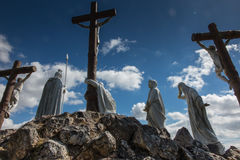 Way of the Cross and Calvary built years ago by St. Louis Monfor. T in Pontchateau in France Royalty Free Stock Image