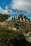 Way of the Cross and Calvary built years ago by St. Louis Monfor. T in Pontchateau in France Stock Photos
