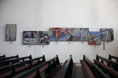 Way of the Cross in the Church of the Holy Trinity in Gemunden Stock Photos