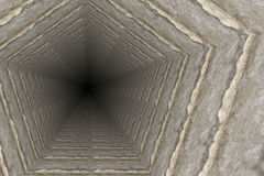 Way of deep hole in a coal mine Royalty Free Stock Image